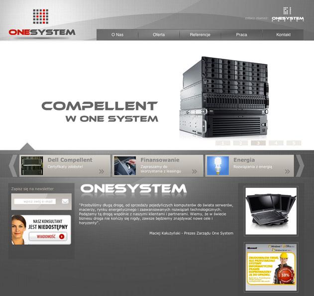 projekt strony www dla onesystem