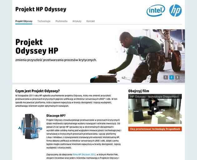 projekt strony HP Odyssey